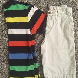 Boys Nautica shirt and Izod shorts size 16